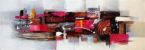 Tableau Rose Et Gris : tableau panoramique gris effets roses et noirs toile panoramique ~ Teatrodelosmanantiales.com Idées de Décoration