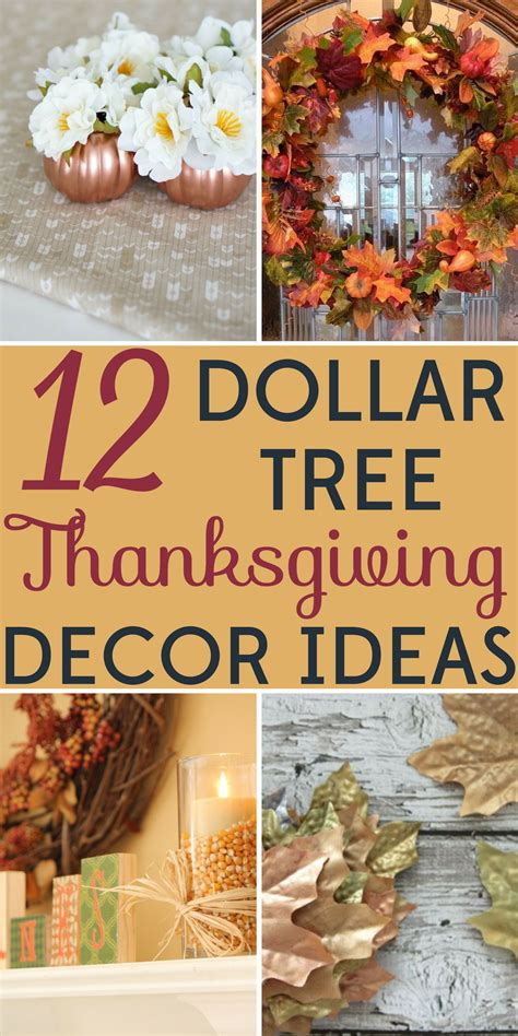 Decorating Ideas Cheap by Decorating On A Budget 12 Dollar Tree Thanksgiving Decor