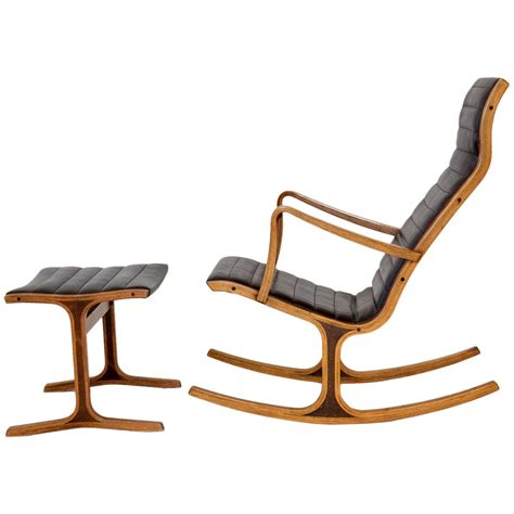 rocking chair and ottoman quot heron quot rocking chair and ottoman by mitsumasa sugasawa