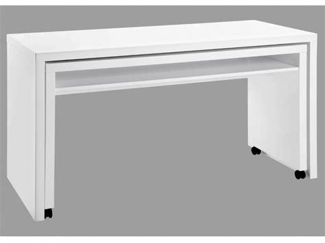 bureau amovible stephen mdf laqué coloris blanc