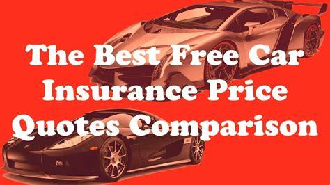 car insurance price quotes comparison