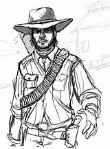 Marston John Redemption Dead Drawings Pencil Coloring Sketch Deviantart Template Larger Credit sketch template