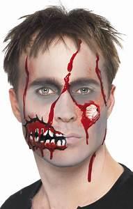 Maquillage Garcon Halloween : maquillage zombie adulte halloween ~ Farleysfitness.com Idées de Décoration