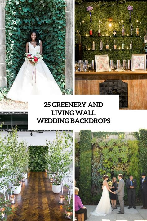 25 Greenery And Living Wall Wedding Backdrops Weddingomania