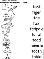 words that start with the letter t letter t alphabet activities at enchantedlearning 38119