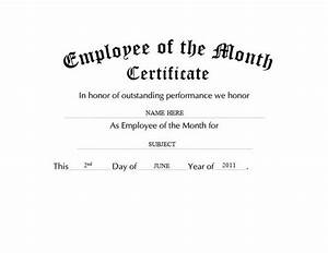 Employee Certificate Templates Free Employee Of The Month Certificates Templates Dtk Templates