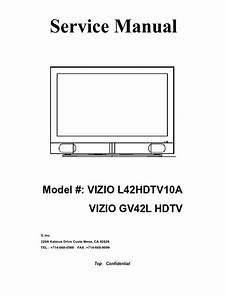 Vizio Gv42l Hdtv Service Manual