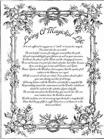 Witch Magickal Living Shadows Wiccan Spell Pagan
