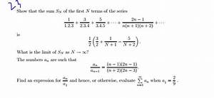 Solved  Show That The Sum Sn Of The First N Terms Of The S