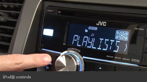 jvc kw r500 car cd receiver display and controls demo