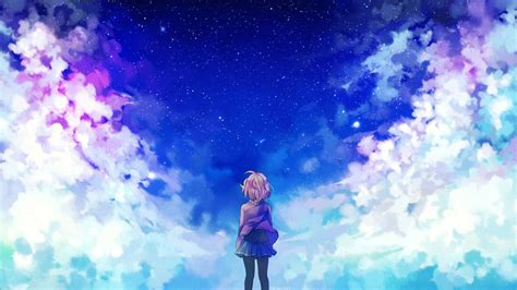 Anime Wallpaper Backgrounds by Anime Clouds Kyoukai No Kanata Wallpapers