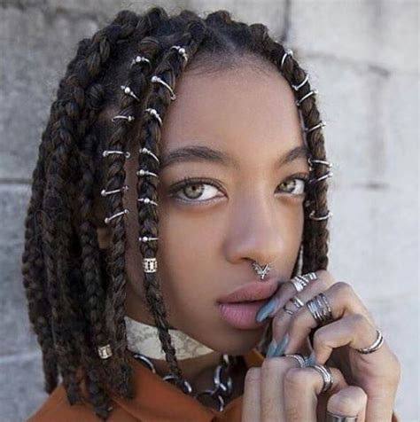 7 inspiring ways to style your thick box braids in 2018