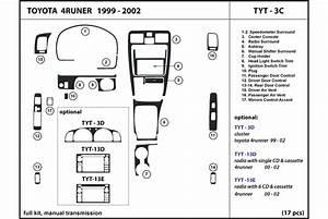 2001 Toyota 4runner Dash Kits