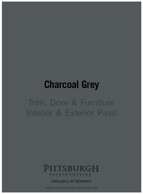 charcoal grey trim door furniture paint by pittsburgh
