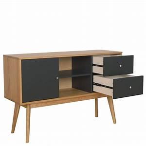 Buffet Gris Laqué : buffet scandinave design laque mat et bois skoll by drawer ~ Teatrodelosmanantiales.com Idées de Décoration
