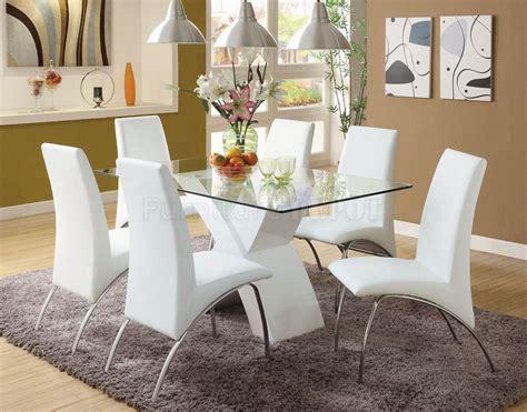 White Dining Room Table Set Home Furniture Design