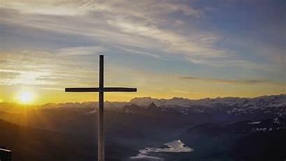 Cross Sunset 4k Background Sky Under 1080