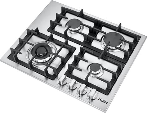 Haier Hcc2430ags 24 Inch Gas Cooktop With 4 Sealed Burners