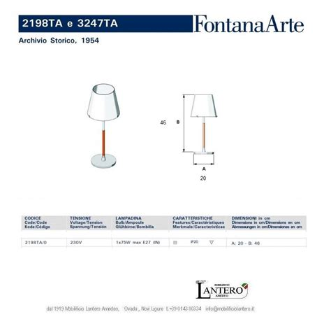 fontana illuminazione fontana arte illuminazione lada da tavolo 2198 ta o