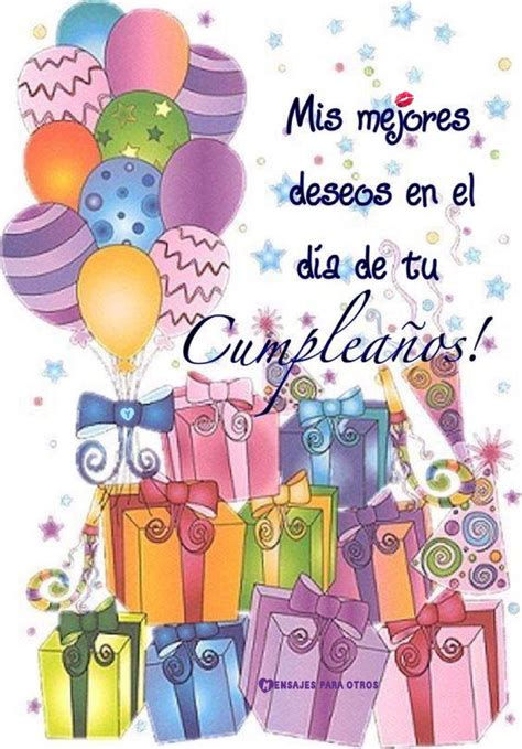 Mis mejores deseos en el día de tu Cumpleaños Tarjetas