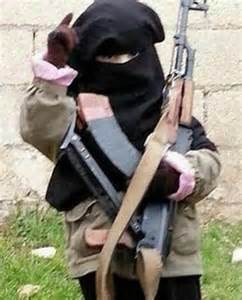 Mothers living under ISIS share photos of children posing ...
