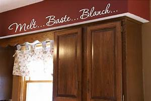 kitchen words actions wall border soffit border by With kitchen colors with white cabinets with doberman stickers