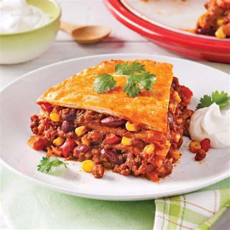cuisine mexicaine tortillas lasagne mexicaine végétarienne recettes cuisine et