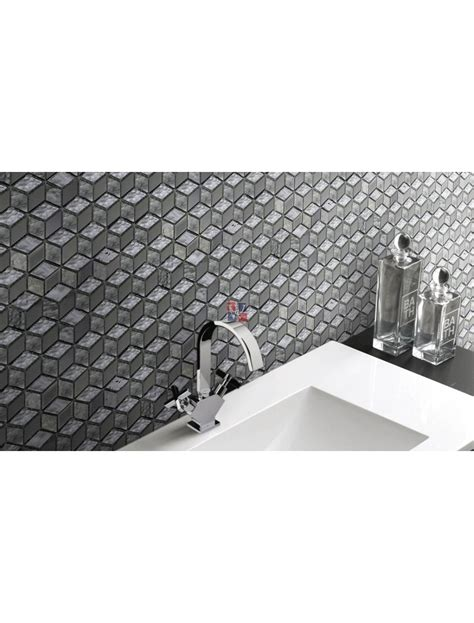 buy silver cube   glass diamond mosaic