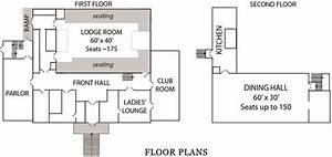 masonic lodge floor plan first floor plan second floor With masonic lodge floor plan