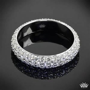 custom 3 row pave diamond wedding ring 28304 With pave diamond engagement rings wedding bands