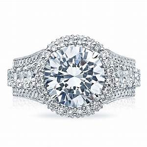 tacori engagement rings royalt halo setting 243 ctw With combined wedding and engagement rings