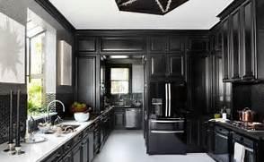 Black Color House Unusual Interior Modern Tasar Ma Sahip Mutfakta Siyah N Ve Beyaz N Klasik Havas Na