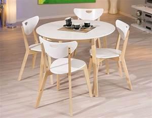 Table Ronde Cuisine : table laque blanche pas cher ~ Teatrodelosmanantiales.com Idées de Décoration