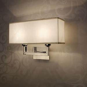 Modern rectangle wall lamp e27 restroom bathroom bedroom for Wall lighting bedroom