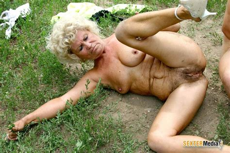 hairy pussy granny gets fucked hard outdoor xxx dessert picture 13