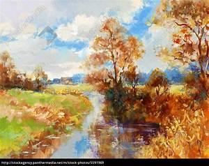 Bilder Bäume Gemalt : herbst landschaft gemalt lizenzfreies bild 5591969 bildagentur panthermedia ~ Orissabook.com Haus und Dekorationen