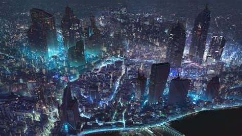 cyberpunk night city sci fi   wallpaper