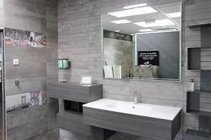 Meuble Mural Salle De Bain : meuble de salle de bain vasque integr e resine carrelage et salle de bain la seyne var caro styl ~ Teatrodelosmanantiales.com Idées de Décoration