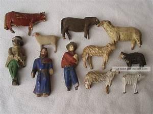 Krippenfiguren Holz Geschnitzt : 11 st ck antike krippenfiguren aus holz u bemalt teils ~ Watch28wear.com Haus und Dekorationen
