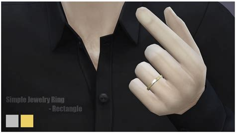 simple ring rectangle at nail 187 sims 4 updates