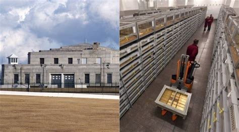 Its gold vault is surrounded by thick granite walls that are topped by a bombproof roof. High Security Building with Tons of American Gold Stores ...