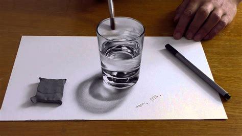 3d Zeichnen by Zeichnen In 3d Glas Wasser Speed Drawing