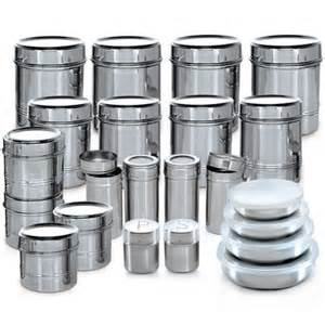 airtight kitchen canisters buy branded 44 pcs stainless steel storage set at