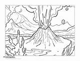 Volcano Coloring Getdrawings Printable Getcolorings Colorings sketch template