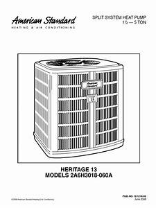 Heritage 13 Heat Pump Outside Unit Owners Manual