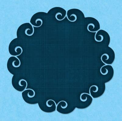 Decorative scallop svg file Paper flower template