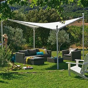 Tonnelle En Bambou : tonnelle blanche avec toile suspendue imperm able 3 5m ~ Premium-room.com Idées de Décoration
