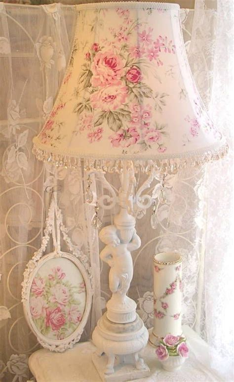 shabby chic fabric lshade custom floor or large table lamp shade shabby pink roses chic fabric