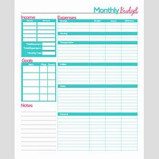 Monthly Budget Template  20+ Download Free Documents In Pdf, Excel, Word