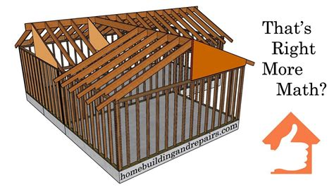 Framing A Hip Roof Addition by How To Calculate Roof Ridge Height And Rafter Length